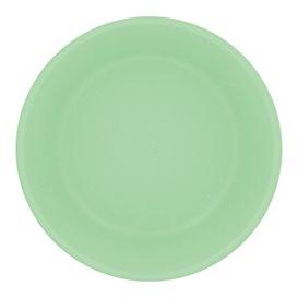 Assiette Réutilisable Durable PP Minéral Vert Ø18cm (54 Utés)