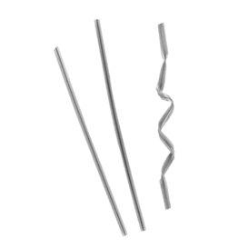 Attache Lien Metal Argenté 9,5cm (1000 Utés)
