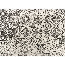 """Nappe en papier 1x1m """"Mosaïque"""" Noir 40g/m² (400 Utés)"""