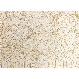 """Nappe en papier 1x1m """"Mosaïque"""" Crème 40g/m² (400 Utés)"""