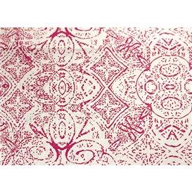 """Nappe en papier 1x1m """"Mosaïque"""" Bordeaux 40g/m² (400 Utés)"""