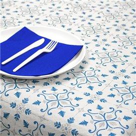 """Nappe en papier 1x1m """"La Valenciana"""" Turquoise 40g/m² (400 Utés)"""