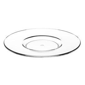 """Assiette Sous Tasse Réutilisable SAN pour Tasse """"Cappuccino"""" Transparent 166ml (6 Utés)"""