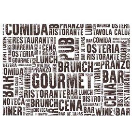 """Set de Table en Papier Blanc """"Gourmet"""" 30x40cm 40g/m² (1.000 Utés)"""