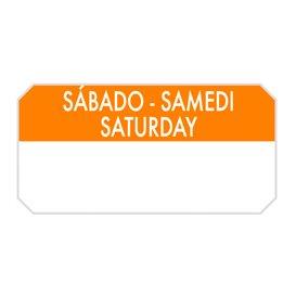 """Rouleau Adhésif Rectangulaire """"Samedi"""" 5x2,5cm (1.000 Utés)"""