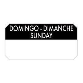 """Rouleau Adhésif Rectangulaire """"Dimanche"""" 5x2,5cm (1.000 Utés)"""
