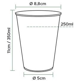 Gobelet Plastique Transparent PP 350 ml (50 Unités)