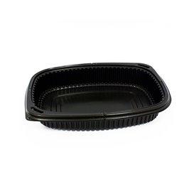 Barquette Rectangulaire PP Noir 800ml 215x170x40mm (40 Utés)