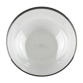 Bol PS Cristal Dur Liseré Argent 3500ml Ø27cm (4 Utés)