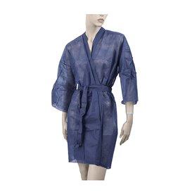 Kimono PP non Tissé Ceinture et Poche Bleu XL (10 Utés)