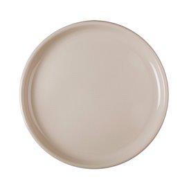 Assiette Plastique Réutilisable Pizza Beige PP Ø350mm (12 Utés)