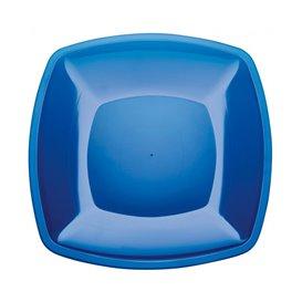 Assiette Plastique Réutilisable Plate Bleu Transp. PS 300mm (12 Utés)