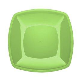 Assiette Plastique Réutilisable Plate Vert Citron PS 300mm (144 Utés)