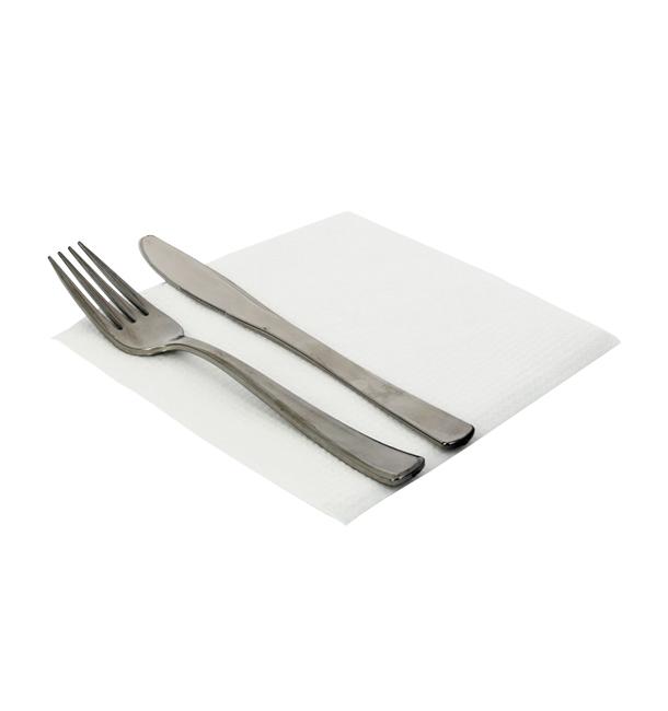 Serviette Papier Blanc 33x33cm 1 épaisseur (100 Unités)