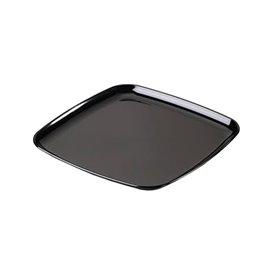 Plateau carré en plastique dur Noir 40x40 cm (5 Utés)