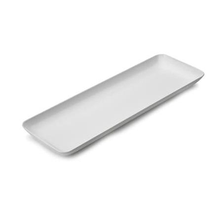Assiette Rectangulaire Blanc pour Dégustation  6x19cm (20 Utés)