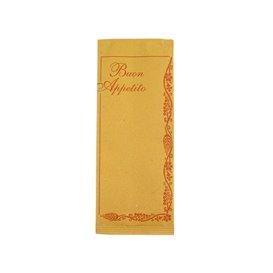 """Enveloppe Porte-Couverts avec Serviettes """"Buon Appetito"""" (125 Utés)"""