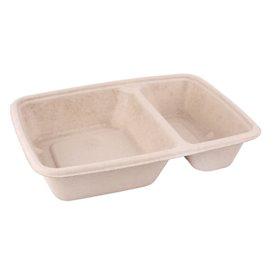 Boîte Canne à Sucre PLA 2C 820ml 23x18x3cm (75 Utés)