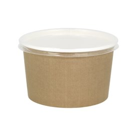 Pot en Carton Kraft avec couvecle PP 16 Oz/473ml (500 Utés)