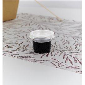 Couvercle pour Pot à Sauce PLA Transparent 30ml (5000 Utés)