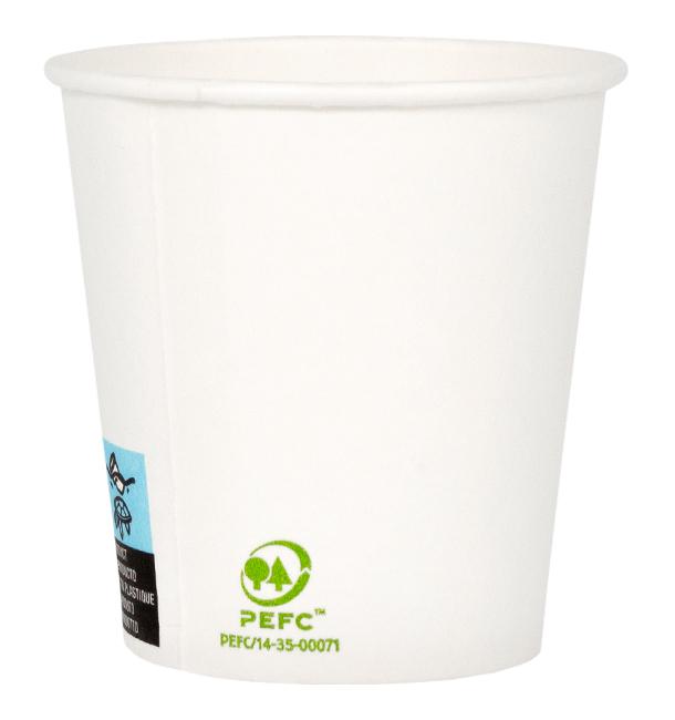 Gobelet Carton Blanc 4Oz/120ml Ø6,2cm (2.000 Unités)