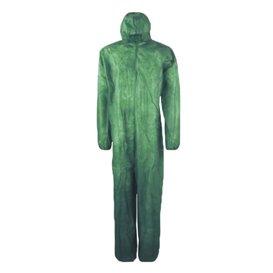 Combinaison TNT PP à Capuche et Fermeture Eclair Taille L Vert (1 Unité)