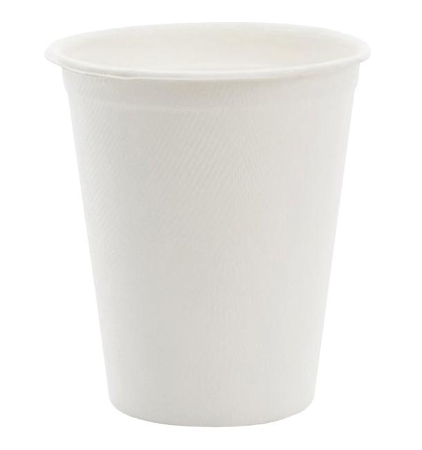 Gobelet en Canne à Sucre Blanc 260ml (10 Utés)