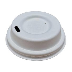 Couvercle Avec Trou en Fibre Moulée Blanc Ø7cm (2.100 Utés)