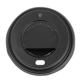 Couvercle Perforé pour Gobelet Carton 7Oz Noir Ø7,2cm (100 Utés)
