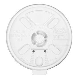 "Couvercle ""Lift n' Lock"" PS Blanc Ø8,6cm (100 Utés)"