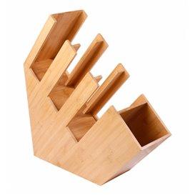 Organisateur Gobelet, Couvercle, Paille Bambou 14x50x50cm (2 Utés)