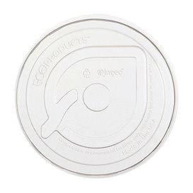 Couvercle Plat PLA Gobelet Amidon de Maïs 265,355,590ml (100 Utés)