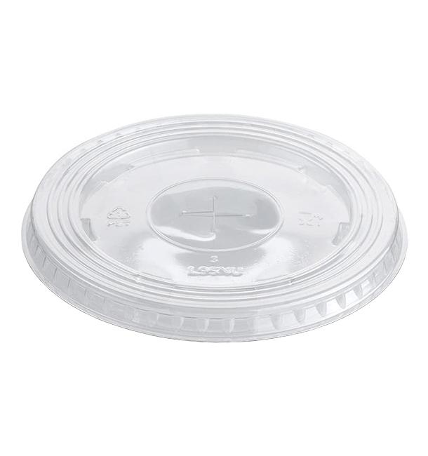 Courvercle PET Croix Transparent Ø9,4cm (100 Unités)