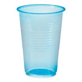 Gobelet Plastique PP Bleu Transp. 230ml (100 Unités)