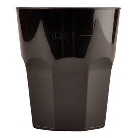 Verre Plastique à Cocktail Noir PP Ø84mm 270ml (20 Unités)