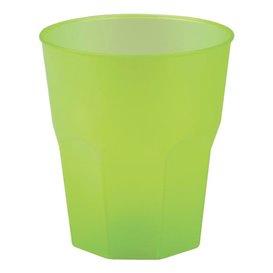 """Verre Plastique """"Frost"""" Vert citron PP 270ml (420 Unités)"""