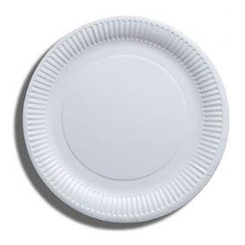 Assiette en Papier Blanc Biodégradable Ø23cm (100 Utés)