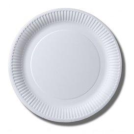 Assiette en Papier Biocoated Blanc Ø23cm (800 Unités)