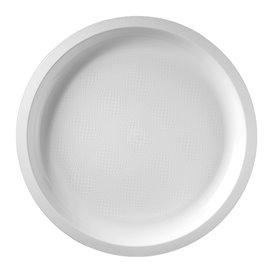 Assiette Plastique Réutilisable Blanc PP Ø290mm (25 Utés)