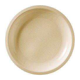 Assiette Plastique Réutilisable Plate Crème PP Ø220mm (600 Utés)
