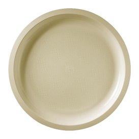 Assiette Plastique Réutilisable Creme PP Ø290mm (25 Utés)