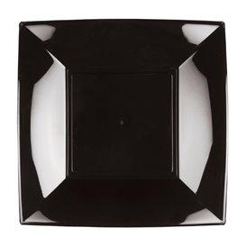 Assiette Plastique Réutilisable Creuse Noire PP 180mm (25 Utés)