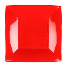 Assiette Plastique Réutilisable Plate Rouge PP 180mm (25 Utés)