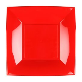 Assiette Plastique Réutilisable Plate Rouge PP 180mm (300 Utés)