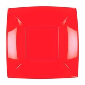 Assiette Plastique Réutilisable Creuse Rouge PP 180mm (25 Utés)
