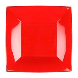 Assiette Plastique Réutilisable Plate Rouge PP 230mm (25 Utés)