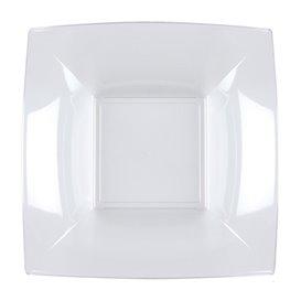 Assiette Plastique Réutilisable Creuse Transp. PS 180mm (300 Utés)