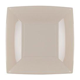 Assiette Plastique Réutilisable Plate Beige PP 180mm (300 Utés)