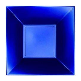 Assiette Plastique Réutilisable Creuse Bleu Pearl PP 180mm (25 Utés)