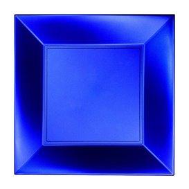 Assiette Plastique Réutilisable Plate Bleu Pearl PP 230mm (25 Utés)